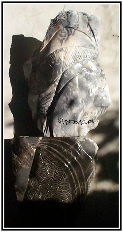 Sculpture-marbre-black